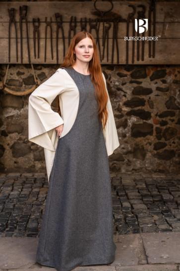 Grey Wool Surcot Albrun by Burgschneider