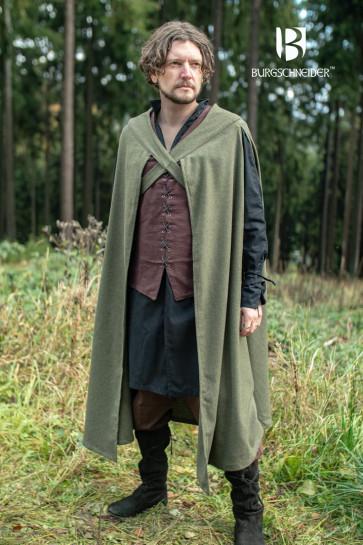 Cloak Justus - Wool Olive Green