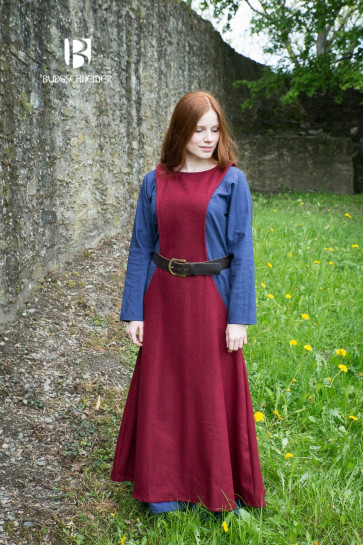 Colorful Viking Garment Set with Underdress and Surcot