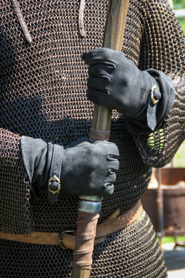 Leather Gloves Ulex - Black