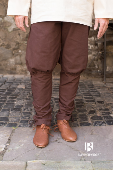 Brown medieval pants Wigbold by Burgschneider