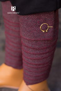 Wool Winingas Asgar - Burgundy/Grey