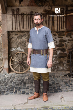 Grey Aegir Tunic with Undertunic as garment set