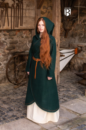 Coat Enya - Wool Green