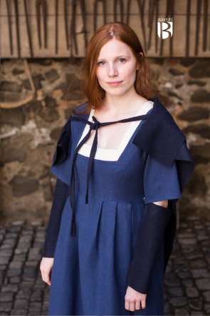 Scarf Bertrude - Wool Blue