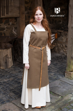 Autumn green wool Overdress Jodis by Burgschneider for Vikings