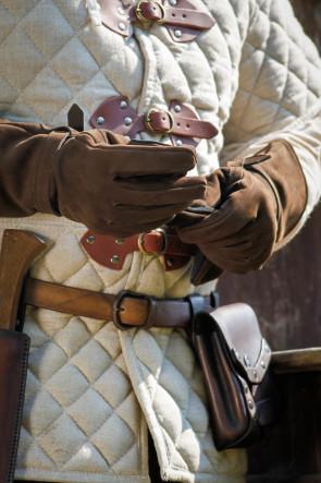 Leather Gloves Ulex - Brown