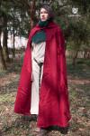 Hooded Cloak Hibernus - Wool Red