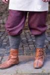 Rus Pants Ivar Herringbone - Burgundy/Grey